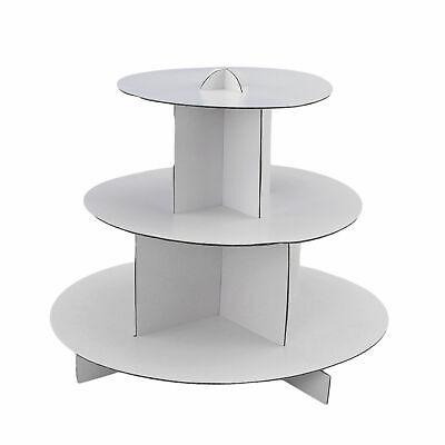 Round White 3-Tier Cupcake Stand Cake Holder Dessert Pastry Display Tower BULK 3 Tiered Dessert Stand