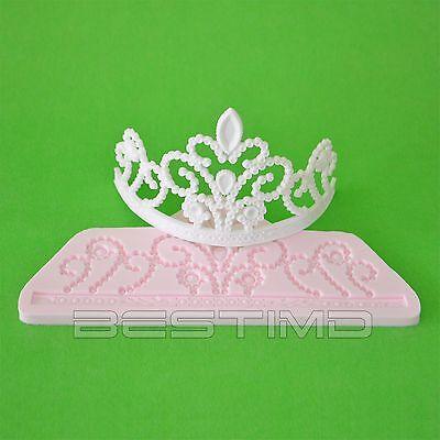 Princess Tiara Silicone Clay Moulds Fondant Sugarcraft Cake Decoration Molds