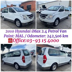 2010 Hyundai iMax / H1 Van 2.4 Petrol in White Colour is for Wrecking / Parts For Sale  West Footscray Maribyrnong Area Preview