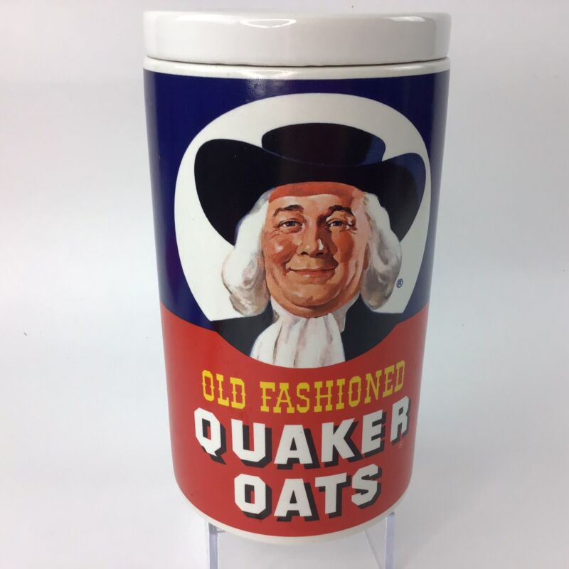 Vintage Old Fashioned Quaker Oats Recipe Cookie Jar Regal China Recipe on Back