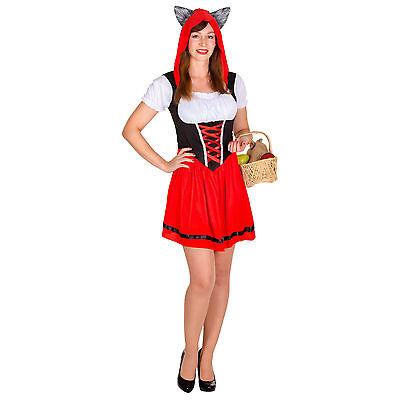 Sexy Wolfskäppchen Kostüm Rotkäppchen Karneval Fasching Halloween Damen - Sexy Halloween Kostüme