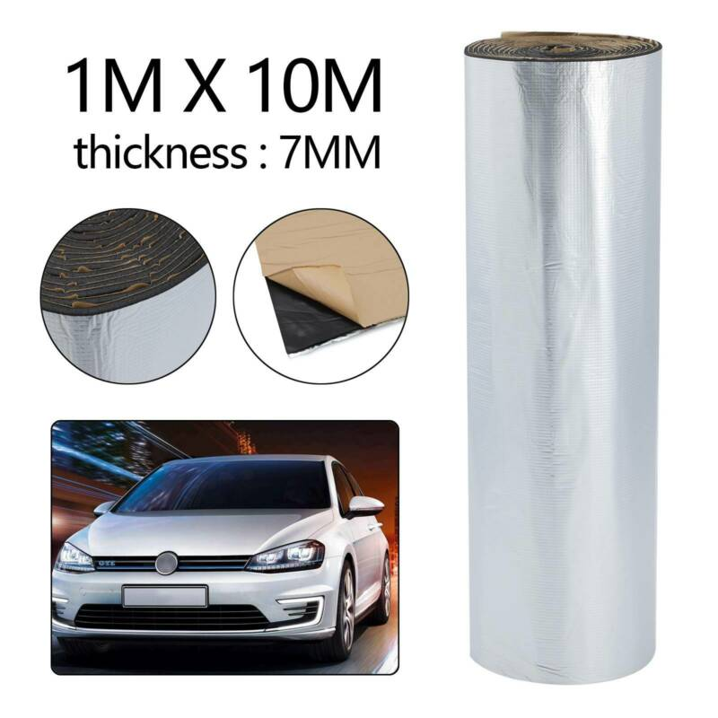 Car Parts - 10M x 1M Car Van Sound Proofing Thick 7mm Deadening Insulation Closed Cell Foam