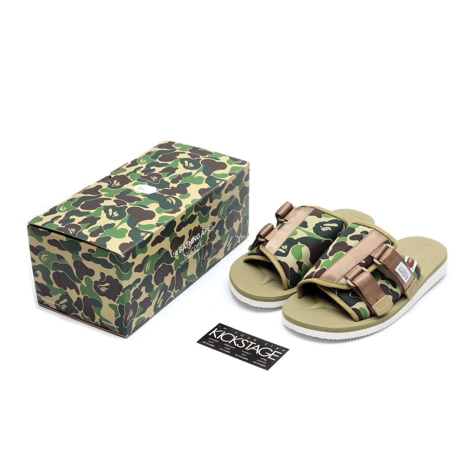 37af48461365 A Bathing APE x SUICOKE KAW-APE OG-081APE BAPE Olive Green Camo Sandals IN  HAND
