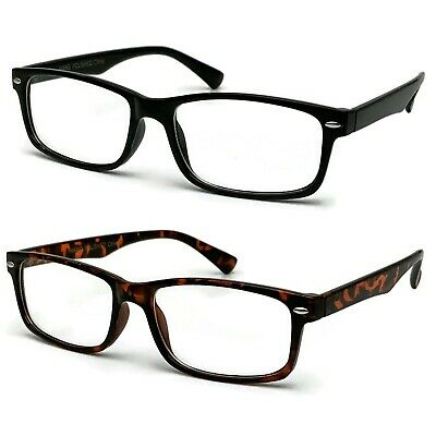 New Clear Lens Fake Glasses Rectangular Frame Nerd Geek Fashion Eyewear UV 100%](Fake Plastic Glasses)