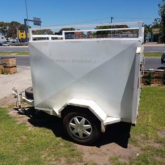 6x4 Lockable Fully Enclosed Trailers for rent