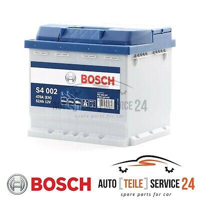 Bosch Starterbatterie S4 002 52Ah 470A 12V Autobatterie für Audi Daewoo