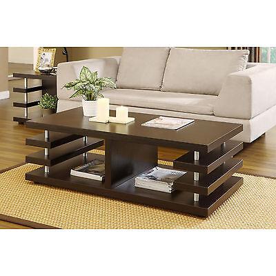 Furniture of America Architectural Inspired Dark Espresso Coffee Table Home NEW