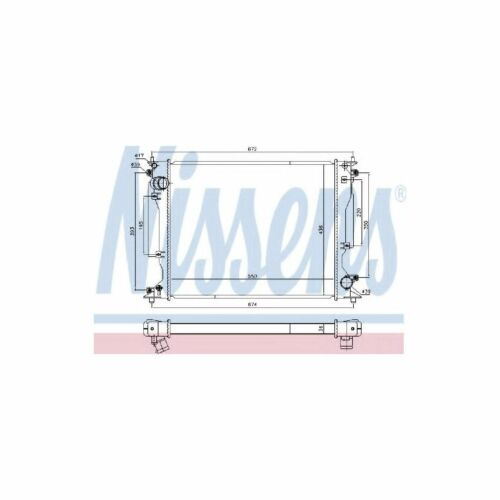 Genuine Nissens Engine Cooling Radiator - 646904