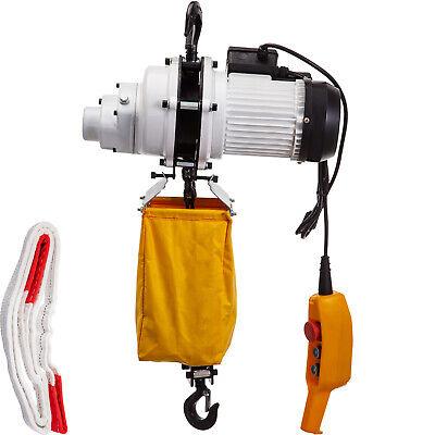 Vevor 1 Ton Load 10 Ft Lift Round Chain Electric Hoist 2200 Lbs Crane Hoist