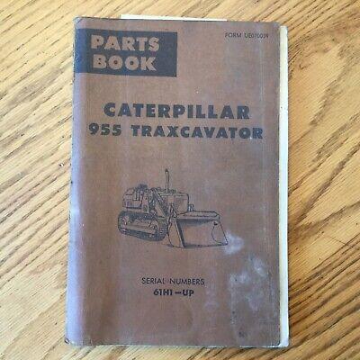 Cat Caterpillar 955 955k Parts Manual Book Traxcavator Track Loader Sn 61h1 Up