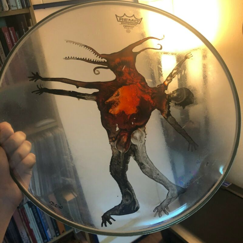 Mario Duplantier (Gojira) Original Drumhead Art