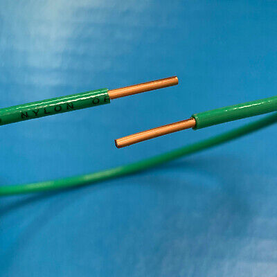 Awg 12 Ga Gauge Green Solid Copper Ground Grounding Wire Thhn Thwn Jacket Ft