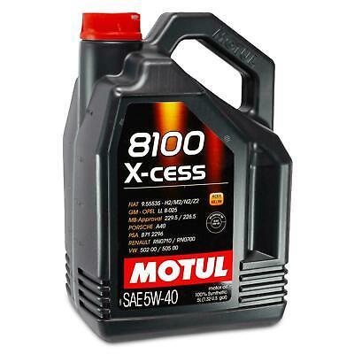 5 Litri olio motore MOTUL 5W40 8100 X-CESS GEN2 VW 502.00 505.00 MB 229.5 A3/B4