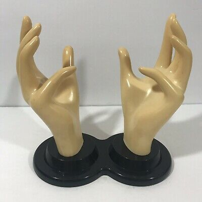 Vintage Double Mannequin Hands Eb Giftware 1990 Jewelry Display Stand