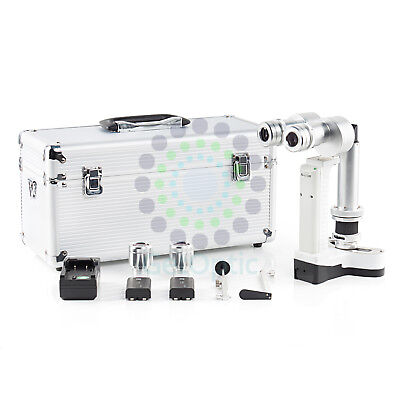 Hand Held Portable Slit Lamp Set 3700 With Case Ce Approval Battery New
