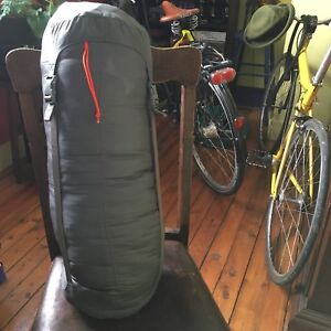 Woods sleeping bag w zip out liner and MEC compression sack