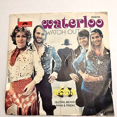 "ABBA Waterloo Watch Out 45 RPM 7"" Single 1974 Polydor"
