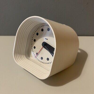 Alessi Optic Alarm Clock White- O 2 Table Clock By Joe Colombo Retro Space Age