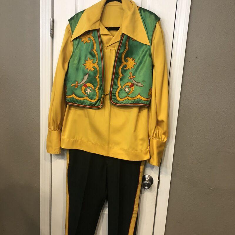 Vintage Mid Century Shriners Uniform **See Pics For Measurements