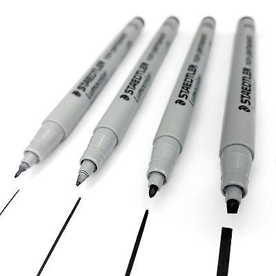 Staedtler Lumocolor - Black Non-Permanent Universal Marker Pen - Wallet of (Staedtler Black Markers)