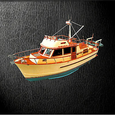 """MODEL BOAT PLANS 1/16 SCALE 33"""" Radio Control trawler yacht F/S PRINTED PLANS"""