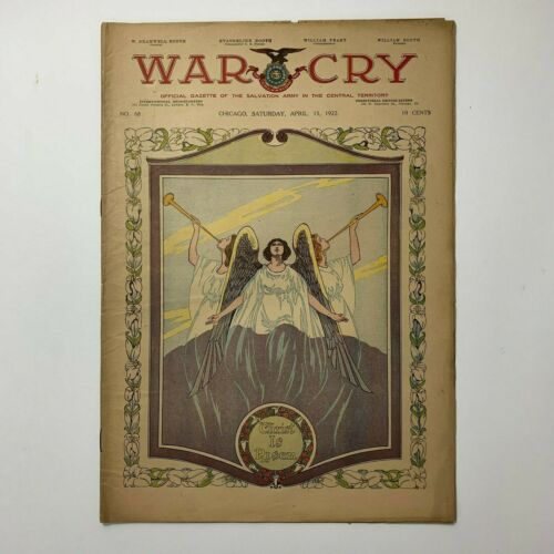 War Cry Salvation Army Newspaper April 15 1922 no 66 EASTER Issue