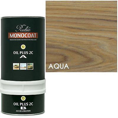 Aqua Rub - Rubio Monocoat Zero VOC 2 Component Oil Finish, AQUA, 350ML