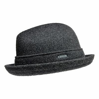 - Kangol Wool Player Men's Wool Blend Center Dent Fedora Hat Grey Authentic