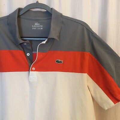 Lacoste Sport Polo Shirt Men's XL Striped (175/9
