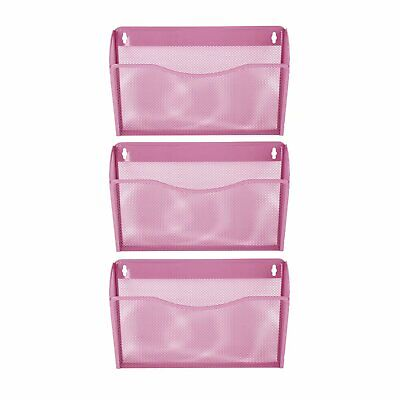 Pro Space 3-pocket Wall Mount File Organizer Office Mesh Collectionwine Red