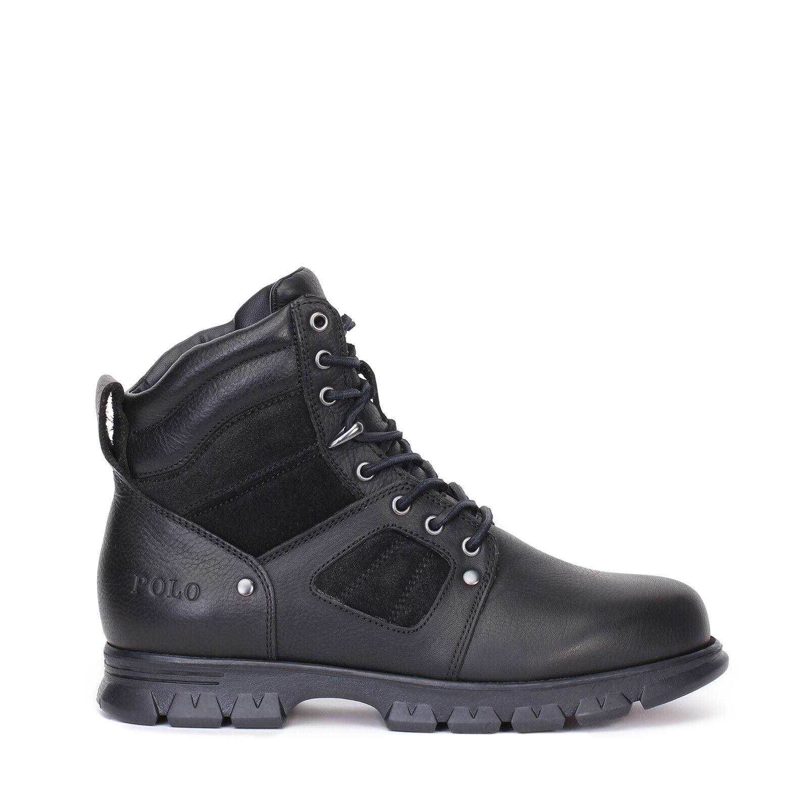 Polo Ralph Lauren Mens Casual Boots Diego Black Leather Ebay # Muebles Ralph Lauren Espana