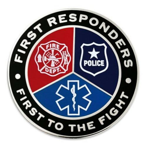 FIRST RESPONDERS FIRST TO FIGHT FIRE POLICE EMT PARAMEDIC   LAPEL PIN