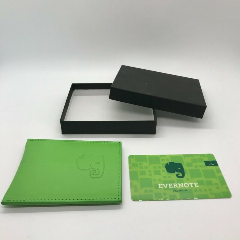 NEW abrAsus Slim Business Card Case Green + 1 Year Evernote Premium ($70 value)