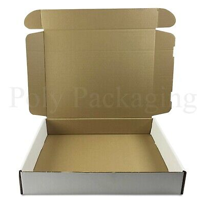 300 x WHITE Posting Boxes 419x338x72mm (16.5x13x3