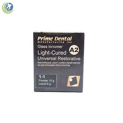 Dental Glass Ionomer Light Cure Universal Restorative Cement A2 Prime Dent Kit