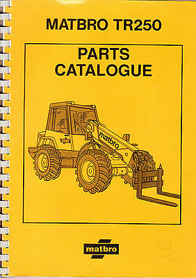 Matbro TR250 Spare Parts Manual Catalogue on CD TR 250 Turbo