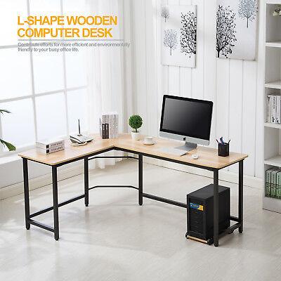 New L-Shaped Corner Computer PC Desk Laptop Flatland Home Office Workstation