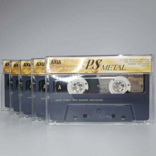 FUJI AXIA lot (2/ 5/ 10/ 25) PS METAL 50 BLANK CASSETTE TAPE (not SEALED)