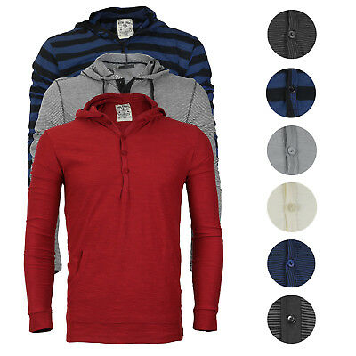 Royal Knight Men's Long Sleeve Lightweight Slim Fit Pullover Henley Shirt Hoodie