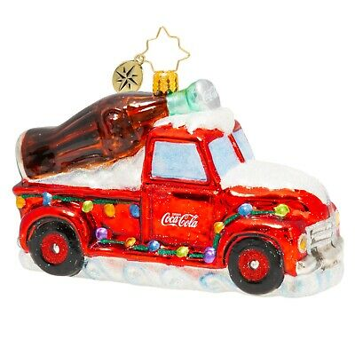 [NEW Christopher Radko A COCA-COLA CELEBRATION Christmas Ornament 1020502</Title]