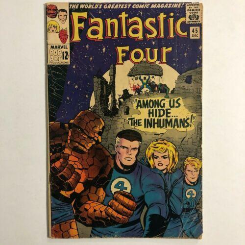 Fantastic Four #45 1st Inhumans Black Bolt Lockjaw Crystal 1965 Marvel Comics