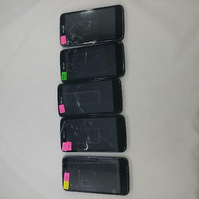 Lot of 5 BLU Studio G Plus S510Q GSM Unlocked DUAL SIM Cellphone BLACK LOT 430 for sale  Shipping to India