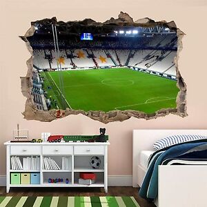 Juventus stadium football wall sticker mural wallpaper for Decoration murale juventus