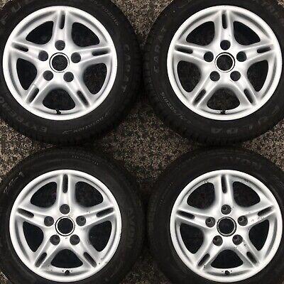 "Set 4 Genuine Porsche Boxster 986 911 996 16"" Alloy Wheels Tyres 205 55 225 50"