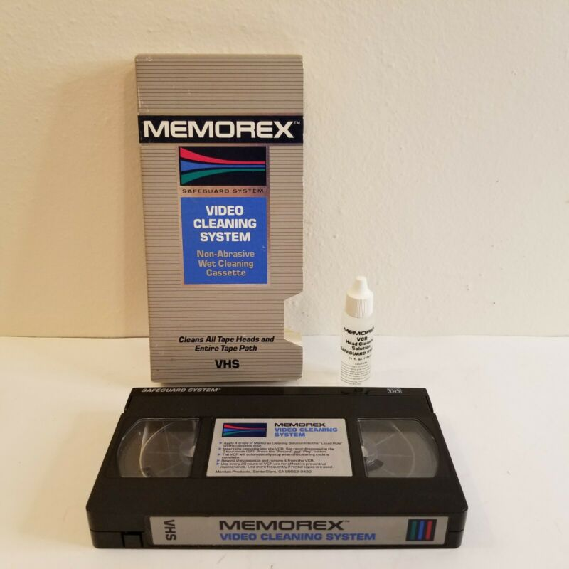 Memorex VCR & Camcorders Video Cleaning System, Wet Process with Cleaner Fluid