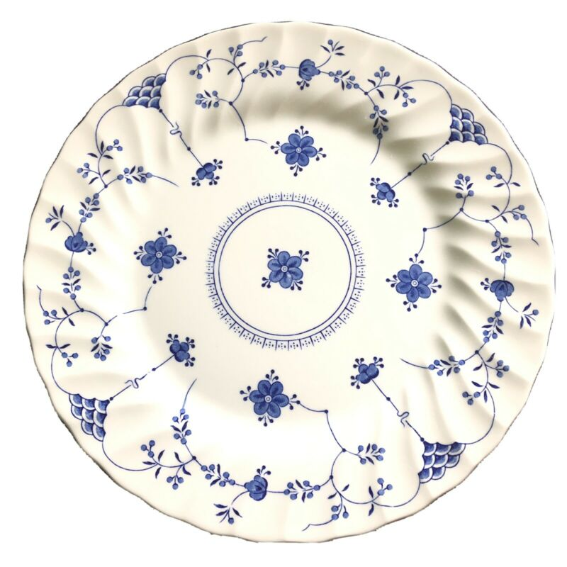 """Set Of 5 York Town By Salem China Co. Olde Staffordshire Dinner Plates 10"""""""