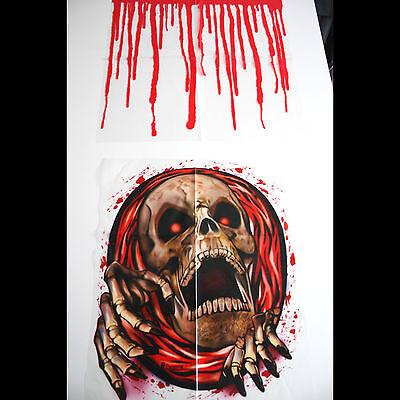 Halloween Skel (Bloody Horror-SKELETON SKULL TOILET COVER-Halloween Pirate Bathroom)