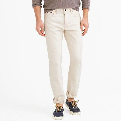 NWT J Crew Men's 770 Japanese Selvedge Jean in Wheat Button Fly Sz: 32/34