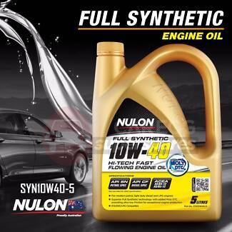 Nulon Full Synthetic Hi-Tech Fast Flowing Engine Oil - 10W-40
