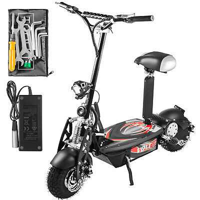 Folding Electric Scooter with Large Wheels, Powerful 48v 1000w Motor Black 3 Wheel Electric Scooter